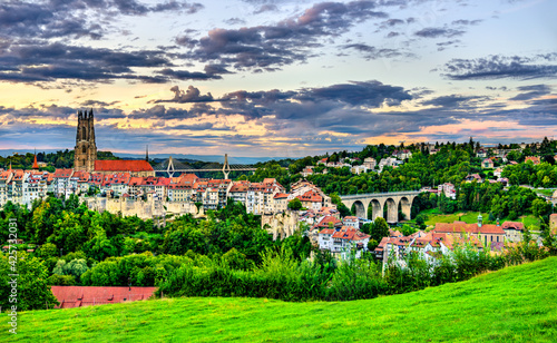 Photo Cityscape of Fribourg in Switzerland
