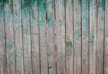 Wooden Background From Old Boards Of A Blue Shade.