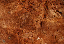 Natural Background Of Red Clay Or Old Rotten Wood