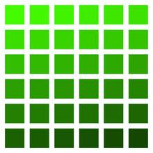 Green Color Palette Vector Green Vegetation Grass Color Palette
