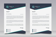Letterhead Design Template. Creative And Elegant Modern Business A4 Letterhead Template For Your Project Design. Illustration Vector