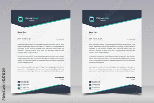 Fotografía Letterhead design template