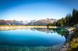 reflection in a lake at stubnerkogel, bad gastein, austria, mountains