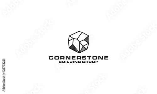Fotografering Cornerstone logo vector icon illustration