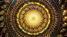 Meditation 3D Mandala Beautiful Color Light Trip Third Eye Chakra Background Psychedelic Trippy Trance Stat Of Zen Yoga Illustration Background Wallpaper Oriental Festive