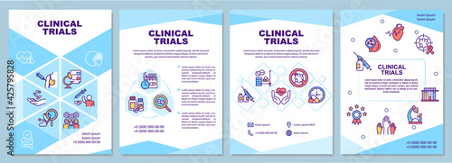 Photo Clinical trials brochure template
