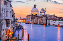 Venice, Italy - Grand Canal Sunset
