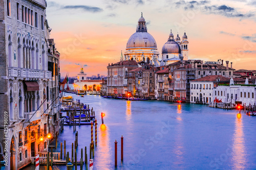 Canvas Print Venice, Italy - Grand Canal sunset