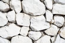 White Stone Background. Cobblestone. Backgrounds