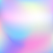 Holographic Gradient Background. Abstract Blurred Mint Purple White Backdrop. Vector Illustration For Your Graphic Design, Banner, Poster