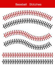 Baseball  Stitches  On A White Background , Vector Design