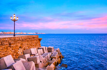 The Bastions Of Old Cadiz, Spain
