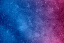 Blue And Pink Abstract Background With Space For Text And Design.  Blue And Pink Cosmos Background