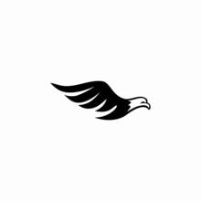 Abstract Illustration Of The Eagle Logo Design Template, Falcon Icon Vector