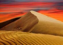 Cerro Blanco Sand Dune Evening Sunset Desert Peru Nasca