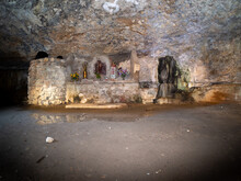 Interior Of The Hermitage Of San Julian Located In The Environment Of Nueno In The Province Of Huesca