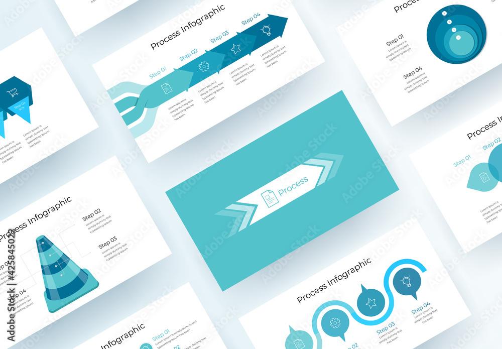 Fototapeta Process Infographic Presentation Layout