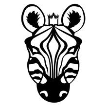 Download This Premium Glyph Icon Of Zebra Face