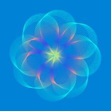 Blue Techno Flower