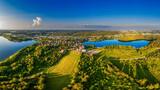 Fototapeta Na sufit - Olsztyn-miasto czterech rzek i piętnastu jezior na Warmii w północno-wschodniej Polsce