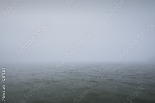 Fotografia, Obraz Panoramic view of Baltic sea from sandy shore