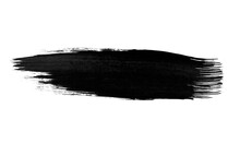 Single Paint Ink Scratch Isolated On White Background. Grungy Blank Line Stroke. Modern Paint Brush Swatches Drawing.