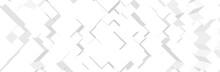 White Gray Background. Futuristic 3d Pattern. Technology Presentation Backdrop. Vector Illustration