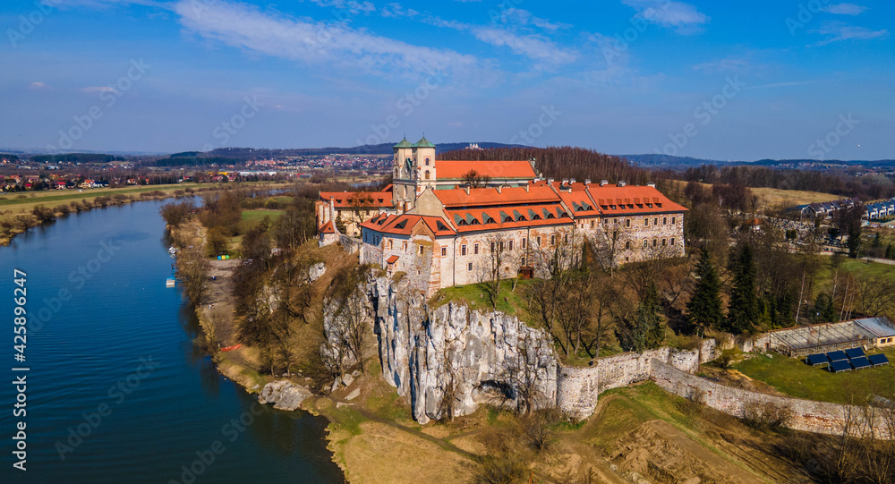 Fototapeta Klasztor w Tyńcu koło Krakowa