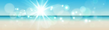 Abstract Colorful Blurred Summer Marine Background For Your Website Or Presentation.