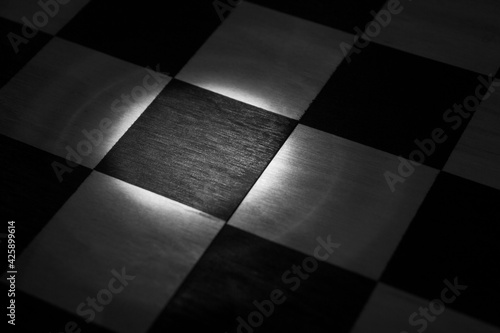 Fototapeta illuminated  chessboard