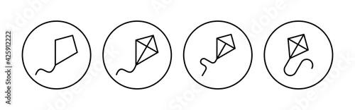 Billede på lærred Kite icon set. kite vector icon.