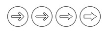 Arrow Icon Set. Arrow Symbol. Arrow Sign For Your Web Design.