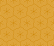 Illustration Yellow Hexagon Pattern Background That Is Seamless