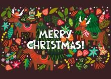Bright Christmas Illustration.
