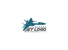 Jet Logo In Addition To An Illustration Of A Jet Flying At High Speed