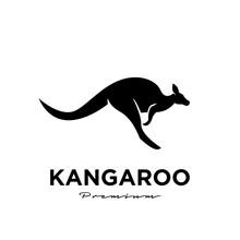 Kangaroo Wallaby Logo Vector Icon Premium Illustration