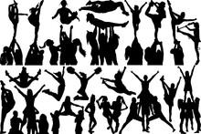 Cheer Stunt SVG Cut Files | Cheer Svg | Sports Svg | Cheer Team Silhouette Bundle