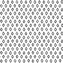 Seamless Pattern Of Lined White Rhombuses. A Seamless Pattern Made With Hand Drawn Rhombuses.