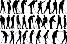 Golf Player SVG Cut Files | Golf SVG | Golfer Silhouette Bundle