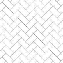 Herringbone Parquet Seamless Pattern. Monochrome Background With Repeating Tiles.