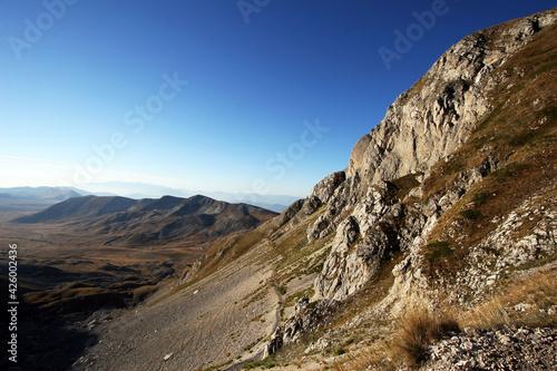 Fotografie, Obraz montagna italiana abruzzo gran sasso veduta sentieri lago
