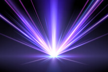 Abstract Neon Light Rays Background