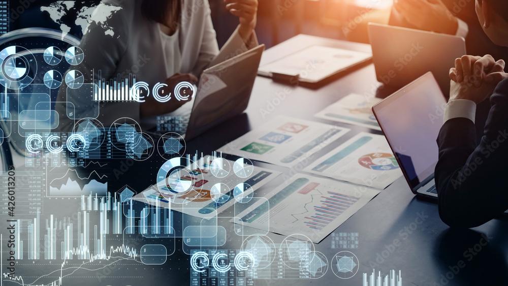 Fototapeta ビジネスと統計 マーケティング ファイナンス