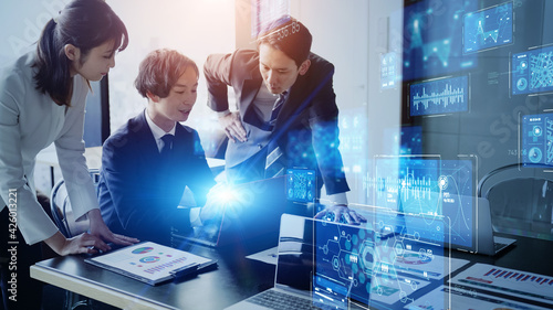 Obraz na plátně ビジネスとテクノロジー