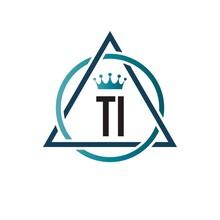 Initial Letter TI Circle Triangle Logo Design Template. Creative Template Logo
