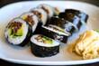 Sushi maki with biff and avocado