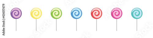 Fotografia Set of colorful sweet lollipops