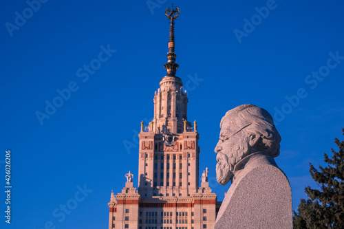 Moscow State University, a famous landmark in Moscow, Russia. Stunning building.