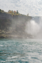 View At The Ledder For Hiking Near The American Falls From The Niagara River