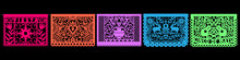 Colorful Mexican Perforated Papel Picado Banner